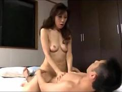 Skinny Japanese milf loves getting her shaved pussy fucked