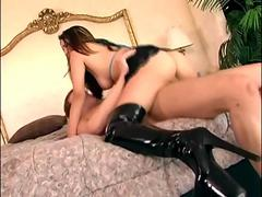 Thigh high boot sex with sexy babe Nautica Thorn
