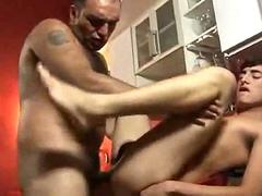 Daddy stuck his painfull cock in my ass