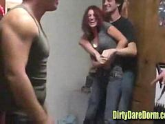 College Teens Blowjob Party in Dorm
