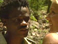Blondes interracial african jungle