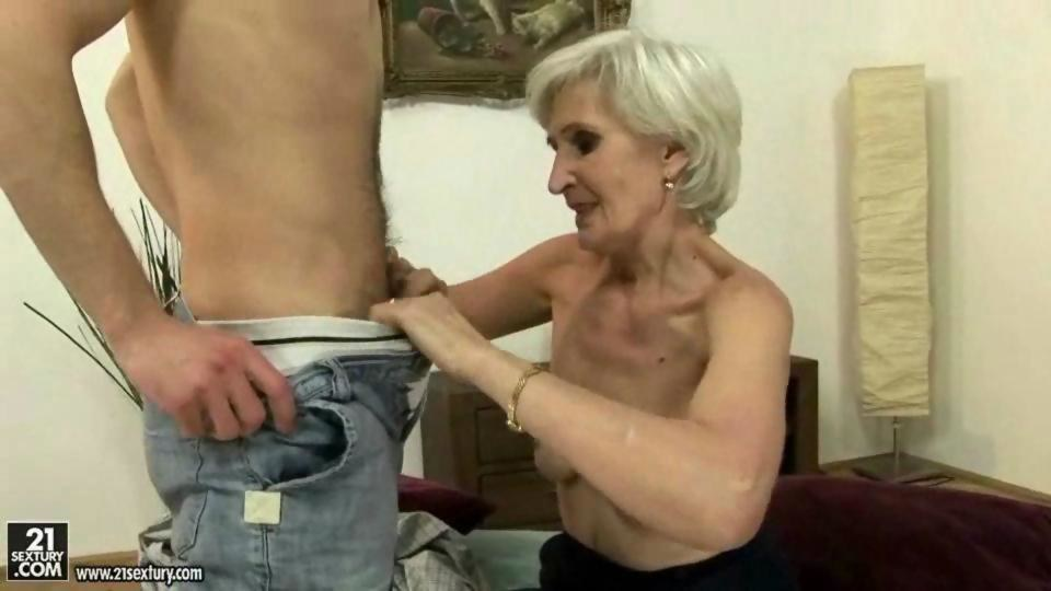 Old Granny Fucks Young Man