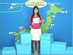 Asian Bukkake TV Weathergirl