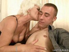 Sexy granny fucking with her young boyfriend