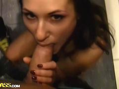 Big dick is in her mouth first and her ass second