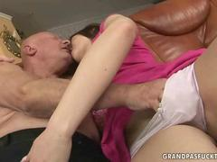 Old dude gets to slide his hand in her panties