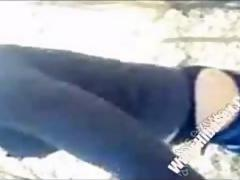Hot Syrian In Hijab Sucking Cock Outdoors