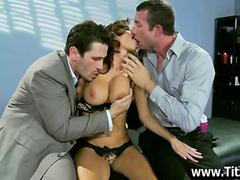 2 Guys play with this MILFs Hot Body