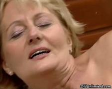 Dirty blonde mature  gets fucked anal film