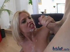 Bobbi smoked this dick for a hot cumshot