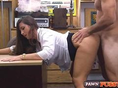 Hot Latina Pawn Shop doggy style pov fuck