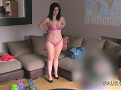 British bbw banging on casting with fake agent
