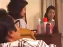 Japanese MILF cant resist a young cock