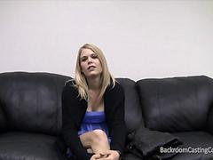 Blonde amateur Scarlett on the Casting Couch