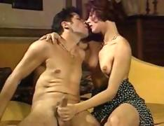 jerking on the dick and kissing on her man