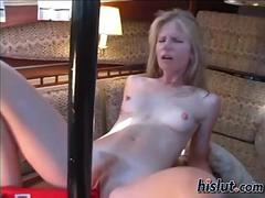 blonde is on her back and she masturbates like crazy