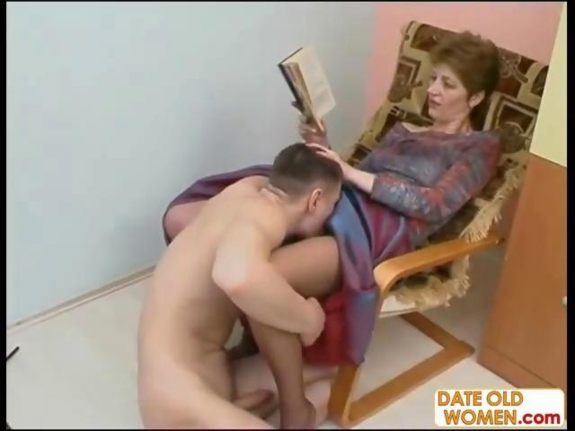 Licking Mature Hairy Pussy