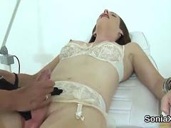 Unfaithful british mature lady sonia shows her monster breasts