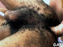 Hairy black dude gets his anus drilled by a handsome lover