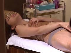 her soaking wet cunt is on fire so shes cumming