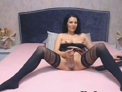 Gorgeous Tranny With Big Cock Jerking Off