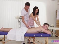 Couple does all inclusive massage