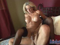 Stacked GILF Lexi rides a big boner