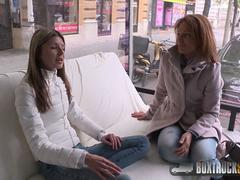 Beautiful Szilvia Lauren surprised by the lesbian model agent