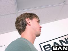 BANG Casting RedHead Bombshell Amber Ivy fish-hooked And Stretched