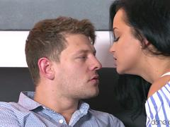 Milf is getting pounded by this handsome lover with a big cock in several positions