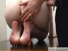 Sexy virgin Mormon girl gets deflowered by experienced mature guy