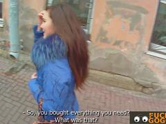 Cute Czech teen fucks total stranger