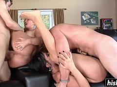 hot wives swap their horny husbands video