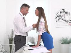 Anal fuck in the office