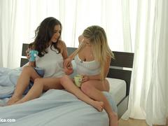 Lesbian scene with Henessy and Jemma Valentine by Sapphic Erotica