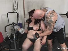 BBW makes a horny trainer horny and rides