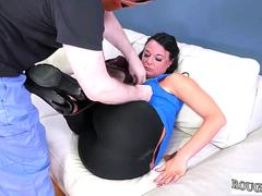 Girl suck and fuck dildo hot rough anal invasion sex booty to mouth face fucking