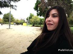 Romanian babe gets huge dick in the ass in public