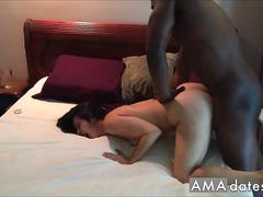 Black Bull Making Yoga Hotwife Beg and Orgasm