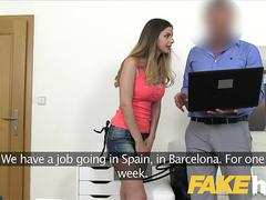 Fake Agent Hot Brit Stella Cox gets her tight pussy fucked by euro agent