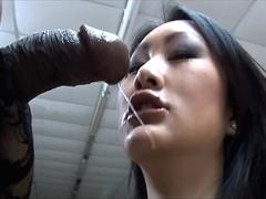 Petite Asian Pornstar Evelyn Lin Worships Big Black Cock
