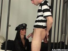 Bitch Prison Warden Sucks Inmates Dick