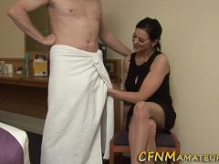 Cfnm milf jerks for jizz