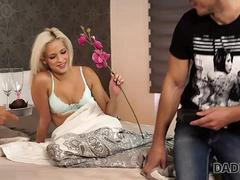 DADDY4K. Boy didnt expect that old dad will fuck his hot GF Ria Sun