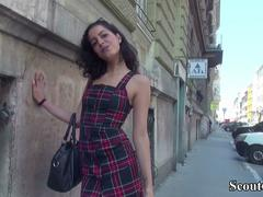 German Scout - 19yr old Teen Anaidha Star Seduce to Fuck At Real Public Street Casting