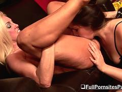 Two busty lesbians have sex