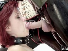 Monster cock punishes naughty Rubber Pixie
