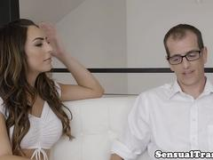 Bigtitted trans babe assfucking sub guy
