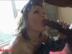 ugly old grandma gets fuck head by big black negroed cock and cum on face