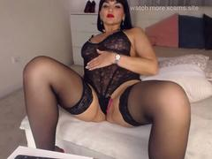 hot milf teasing sexy outfit stockings heels